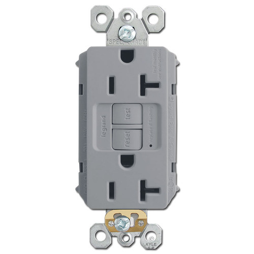 Gray 20A GFCI Outlet