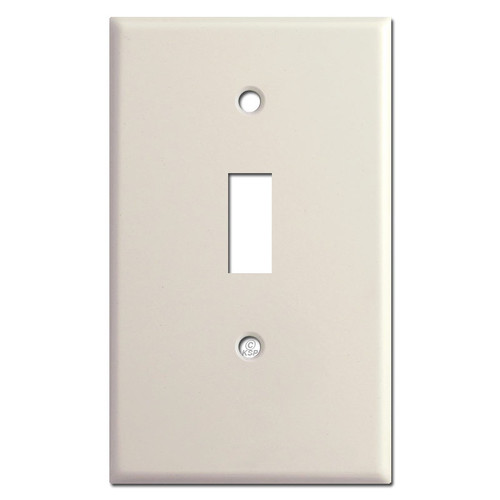 Short Half Trimmed 1 Toggle Wallplate - Light Almond
