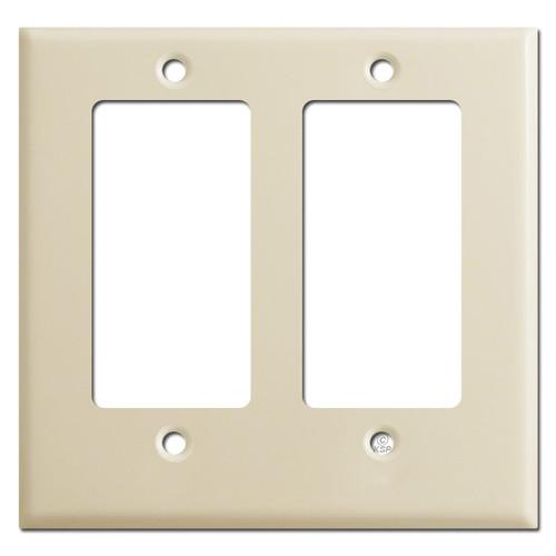 Half Short Trim 2 Decora GFI Wall Switch Plate - Ivory