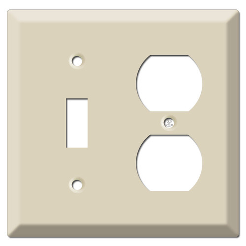Deep Toggle Outlet Cover Plates - Ivory