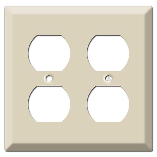 Deep 2-Gang Four Plug Duplex Outlet Cover - Ivory