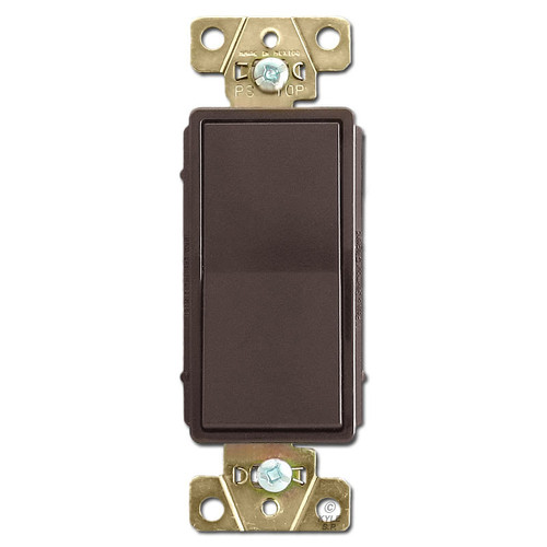 20A Rocker Light Switch - Brown