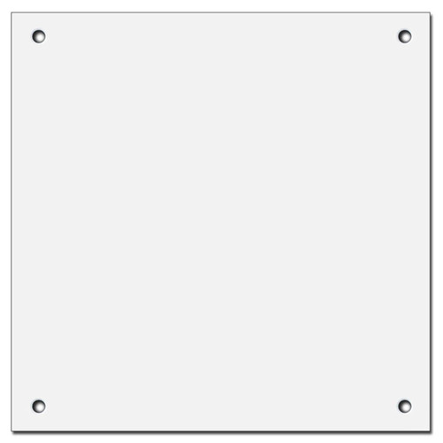 "6"" X 6"" Blank Wall Switch Plate Covers - Corner Screws"