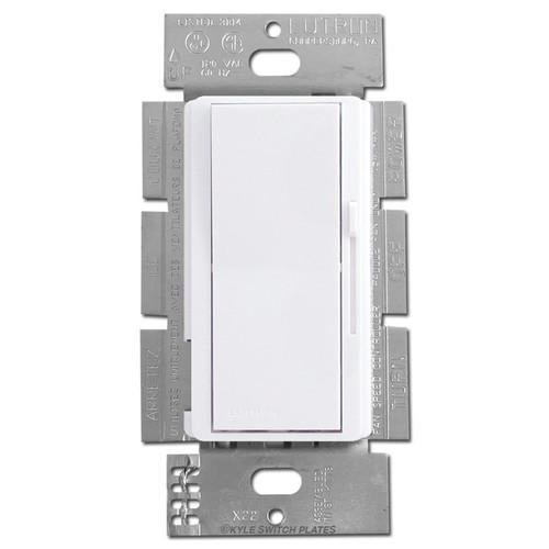 3-Speed Ceiling Fan Switch Controller Single Pole or 3-Way - White