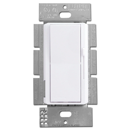 3-Speed Ceiling Fan Switch Controller Single Pole or 3-Way - White