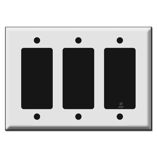 """Specialty 3 Decor Rocker Switch Plates 3.281"""" Screw Spread"""