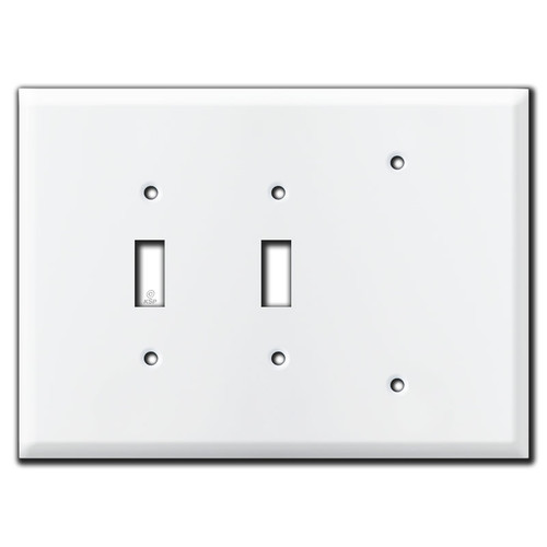 Large Wall Coverage for 2 Toggle and 1 Blank Opening