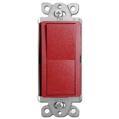 Satin Red 3-Way Rocker Switch - Lutron Hot