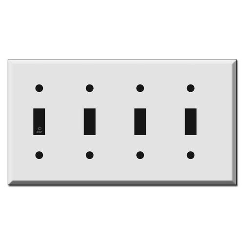 Half Narrow 4 Toggle Light Switch Covers