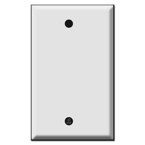 "Half Narrow 1 Blank Wall Face Plates .25"" Trim"