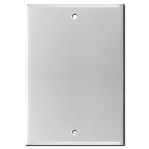 "6"" Blank Wall Plate Cover for Nutone Speaker - 5.25"" Screw Spread"