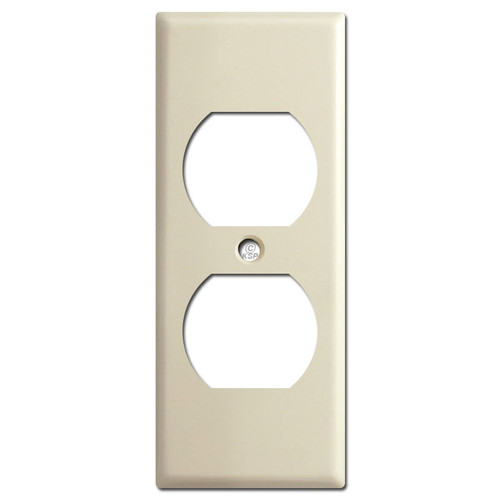 """1.75"""" Narrow Duplex Electrical Outlet Cover Plate - Ivory"""