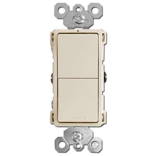 Dual 3-Way Rocker Switches - Light Almond