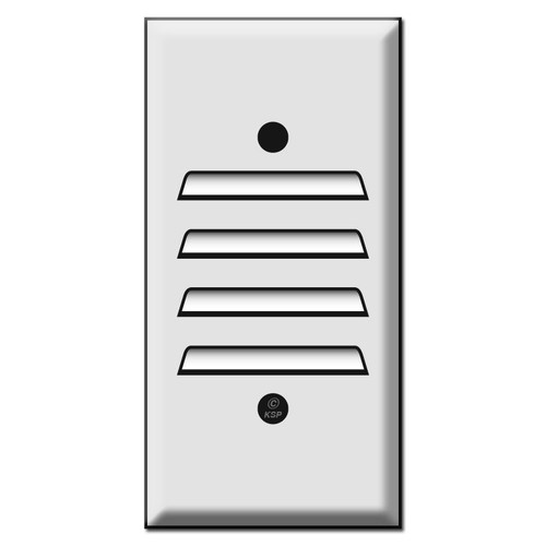 """Narrow 2.25"""" Vertical Louvered Wall Cover Plates"""