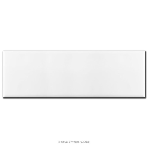"""Completely Blank 7-Gang Wallplate Cover 13.5"""" x 4.5"""" - White"""