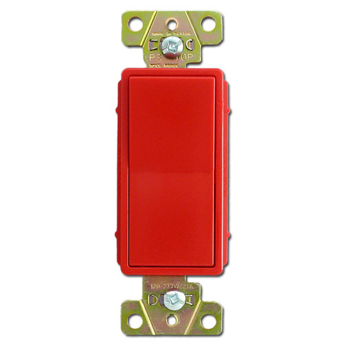 Red 20A Light Rocker Switches