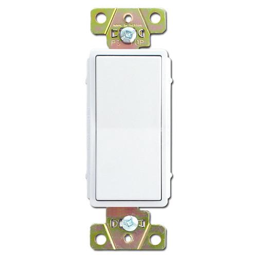 White 20A Decorator Rocker Switch