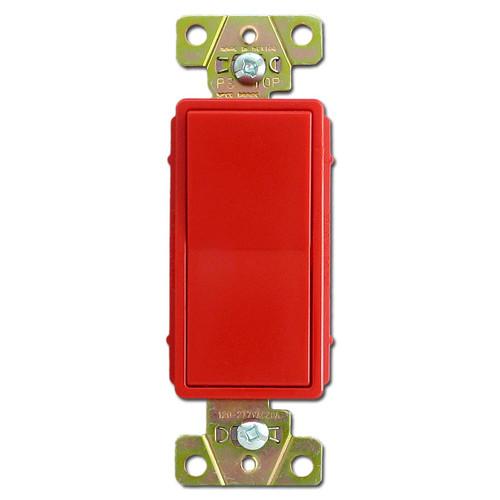 Red 3 Way 20A Decorator Rocker Switch