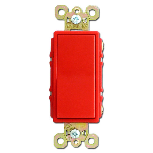 Red 4 Way 20A Decorator Rocker Switch