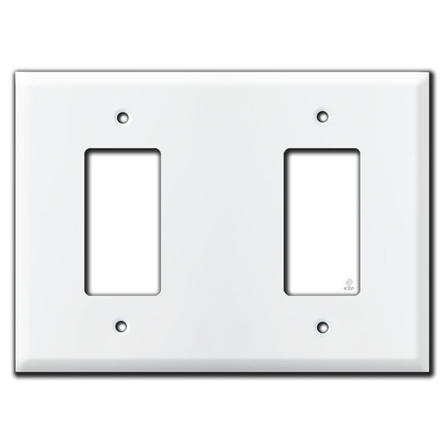 Jumbo Rocker Blank Rocker Light Switch Cover - White