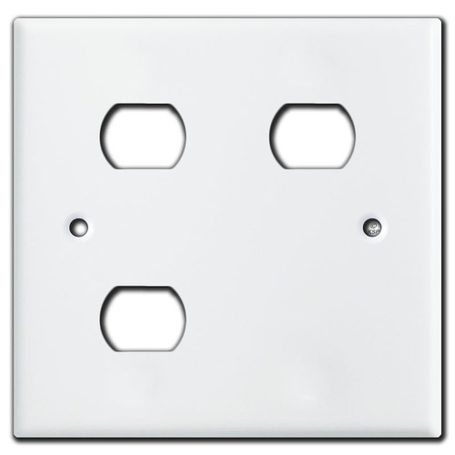 Nutone Scovill Switch Plate 2-Gang Light Exhaust Heat - White