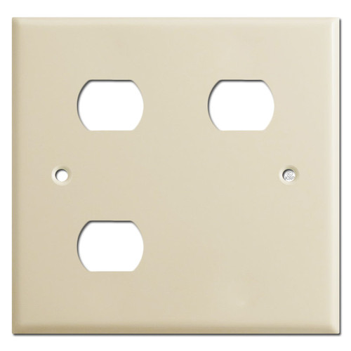 Nutone Scovill Wall Plate 2-Gang Light Exhaust Heat - Ivory