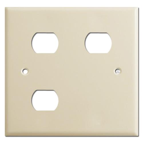 Nutone Scovill Wall Plate 2-Gang Light Exhaust Heat - Ivory