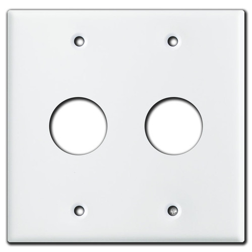 """2-Gang 1.125"""" Round Switch or Device Wallplate - White"""