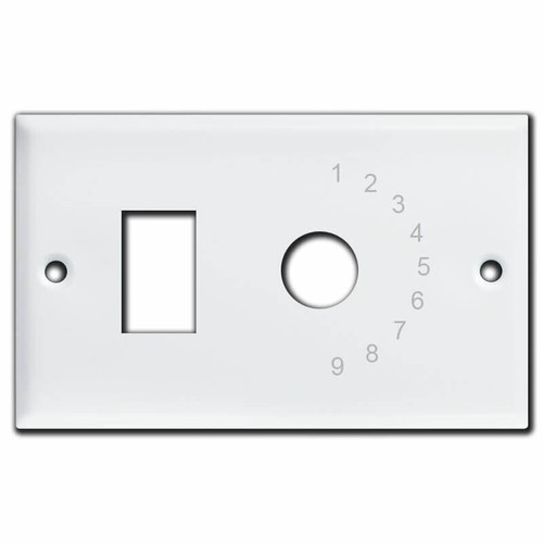 White GE Low Voltage 9-Switch Master Selector Switch Plate