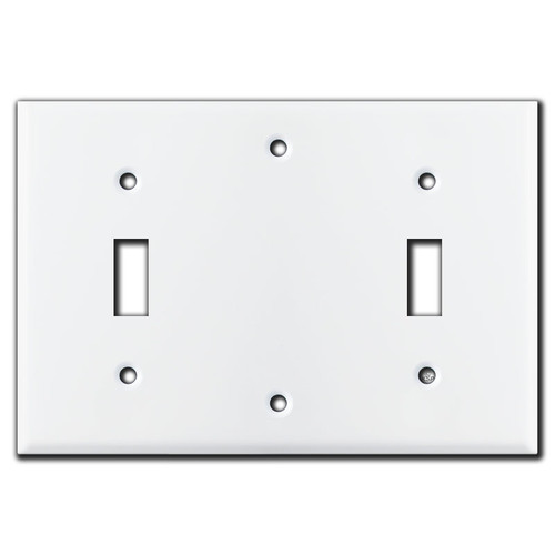 Toggle Blank Toggle 3-Gang Electrical Switch Plate - White