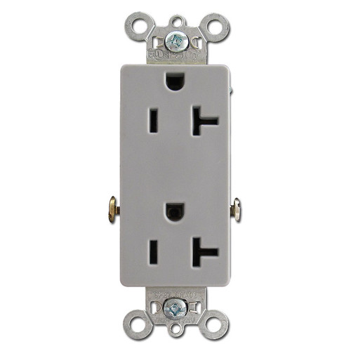 Gray 20A Receptacle Specification Grade