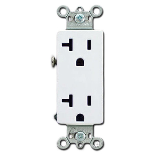 White 20A Outlets Spec Grade