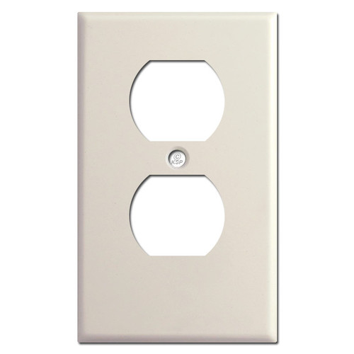 "Half Short Outlet Cover .25"" Trim - Light Almond"