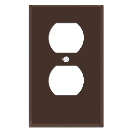 "Half Shortened Receptacle Cover .25"" Trim - Brown"
