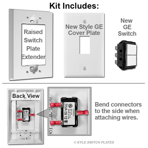 Surface Mount Replacement for GE Low Voltage Switches