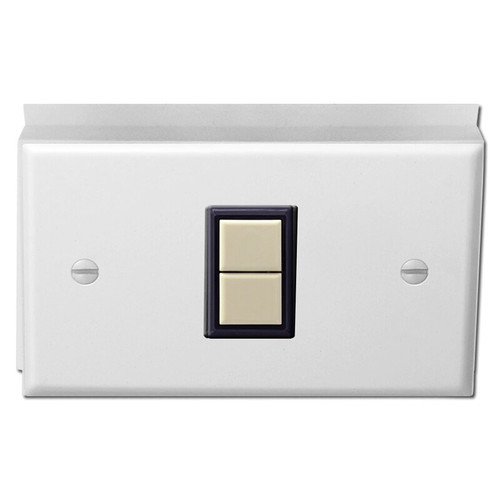Low Volt 1 GE Switch Surface Mount Cover Unit - White with Ivory
