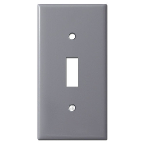 "Narrow 2.25"" Toggle Light Switch Wall Plate - Gray"