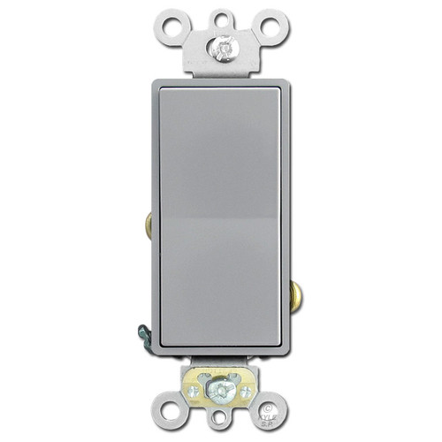 Decora Rocker Switch 20A Leviton - Gray