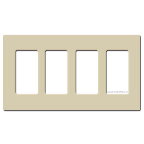 Screwless 4 Decor Outlet Switch Wall Plate Lutron - Ivory Plastic