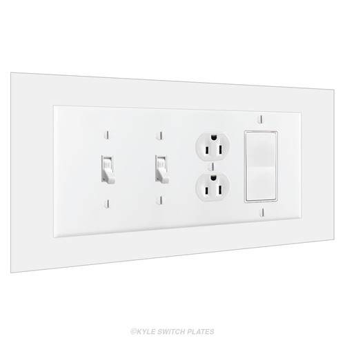 4-Gang Wall Guard Switch Plate Expander 10x6