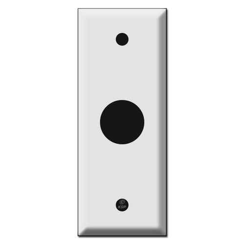 "1.75"" Narrow Wall Switch Plates - .875"" Diameter Hole"
