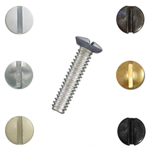 1'' Electrical Wall Switch Plate Screws in Bulk Quantities