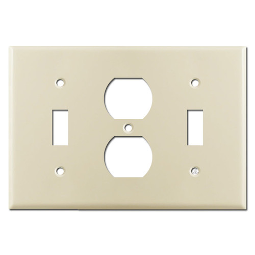 1 Toggle 1 Duplex Receptacle 1 Toggle Wall Plate - Ivory