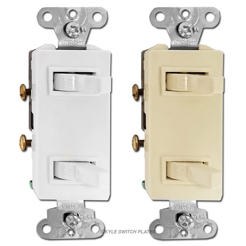 Decorator Stacked Horizontal Toggle Light Switches - 680 P&S