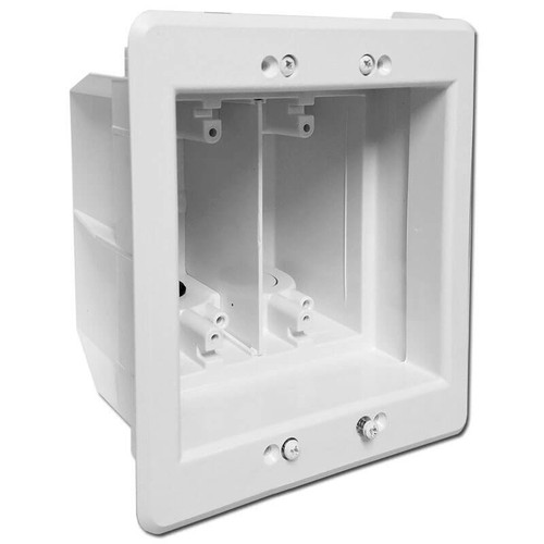 2 Gang Recessed Electrical Box for Deep Outlets & Cables