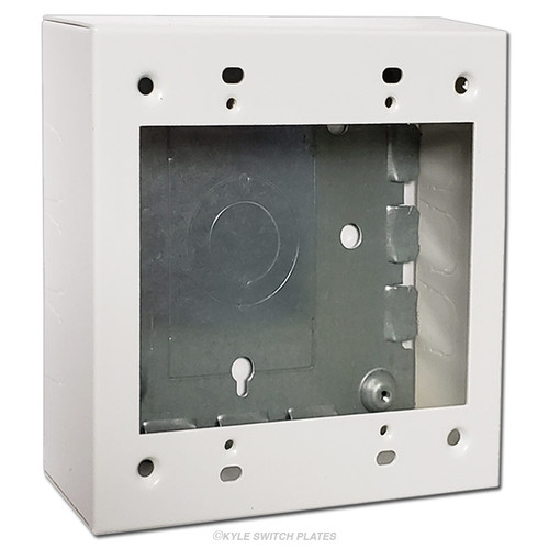 """Switch & Outlet Deep Electrical Box Ring 2-Gang 1.375"""""""
