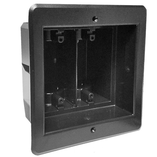 Double Inset Wall Box for Recessed Outlets & Switches - Black