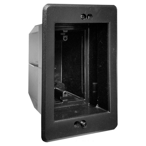 Deep Inset Wall Box for Set Back Outlet Switch or Cable - Black