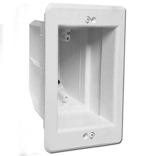 Recessed Electrical In Box for Inset Outlet Switch or Cable - White