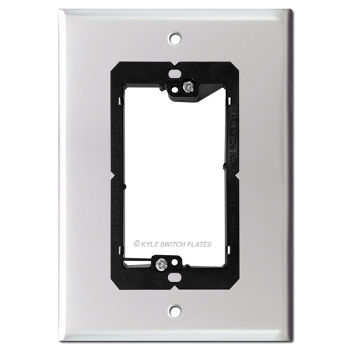 "6"" Video Doorbell Plate for Nutone Intercom Box - 5.25"" Screw Holes"